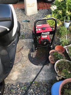 焼津市大島 高圧洗浄作業