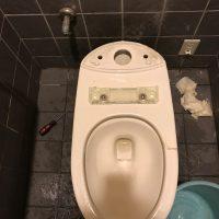 藤枝市源助 洋式トイレ脱着作業