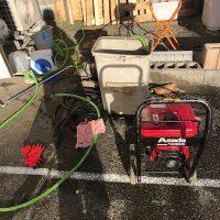 静岡市駿河区高松 屋外排水管高圧洗浄作業