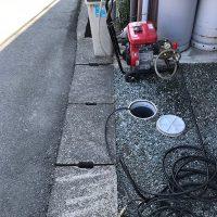 島田市井口 台所排水管高圧洗浄作業