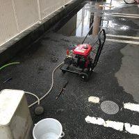 島田市御仮屋 店舗高圧洗浄作業