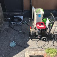 静岡市葵区古庄 排水管高圧洗浄作業
