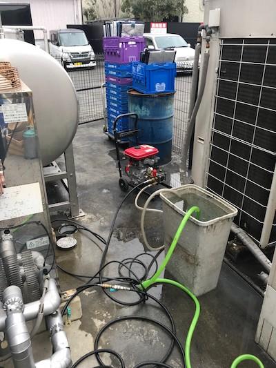 焼津市塩津  高圧洗浄作業