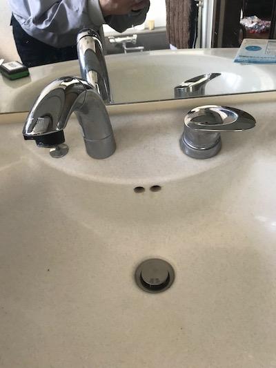 静岡市 洗面蛇口水漏れ修理