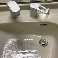 静岡市清水区三保 洗面蛇口水漏れ修理 洗面蛇口交換