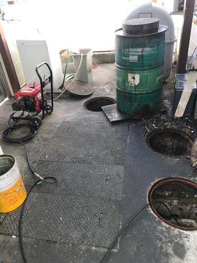 島田市 厨房排水詰まり修理