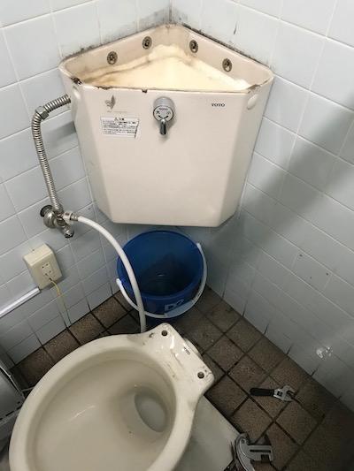 島田市  店舗トイレ水漏れ修理