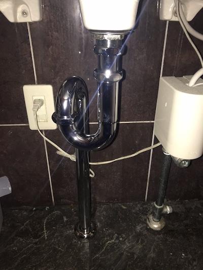 静岡市 トイレ手洗い排水水漏れ修理